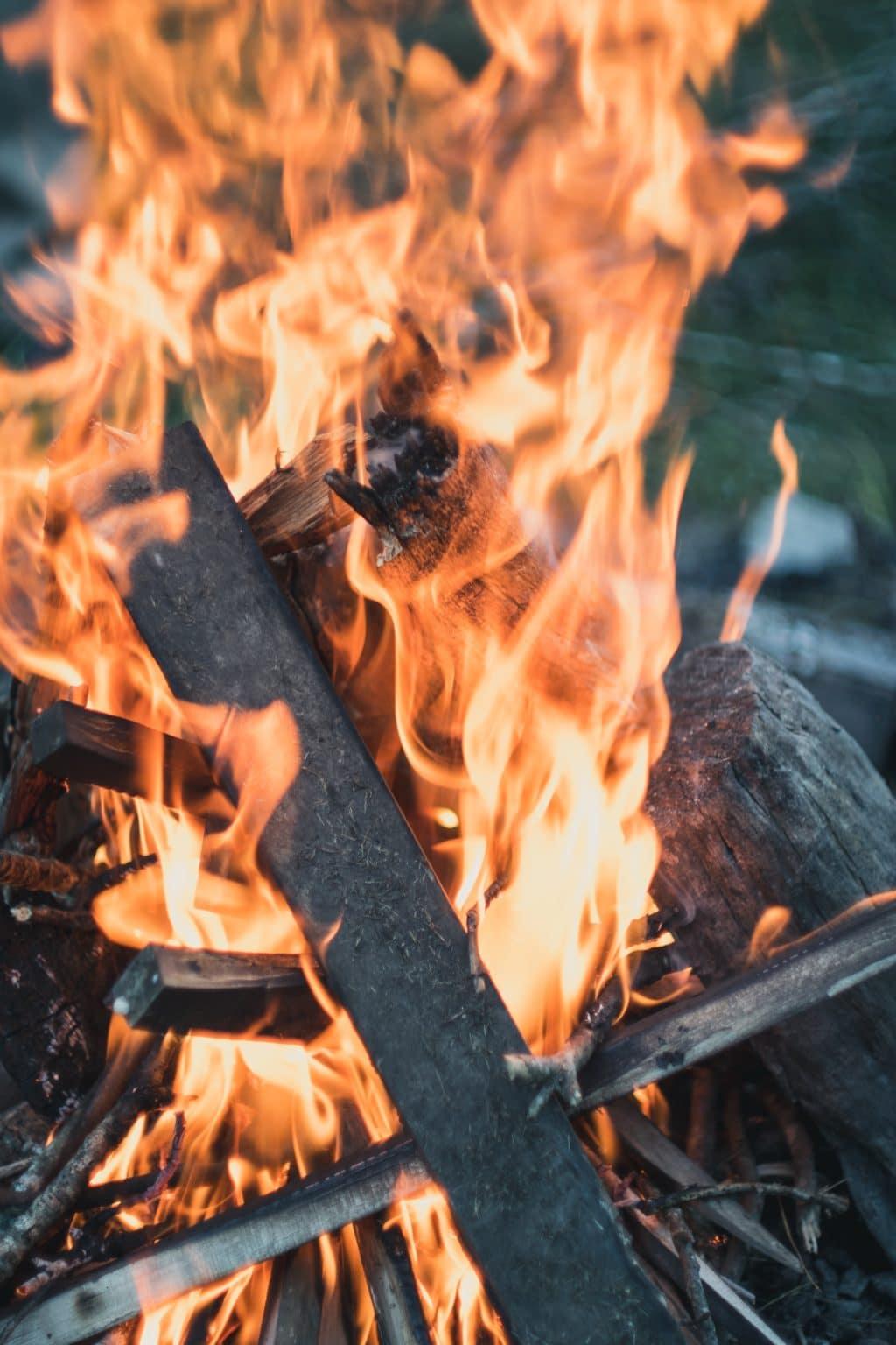 le feu et le stress